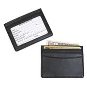 Royce Leather – Mini porte-cartes d'identité et cartes de crédit, noir