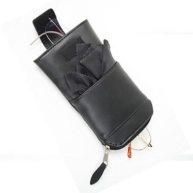 Royce Leather – Étui pour deux paires de lunettes, noir