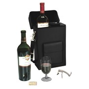 Royce Leather Wine Carrying Carrier, Black