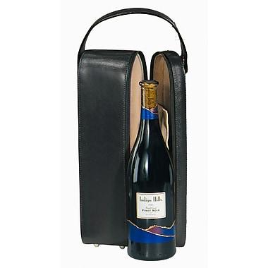 Royce Leather – Étui de transport avec doublure en suède pour bouteille de vin, cuir synthétique, noir