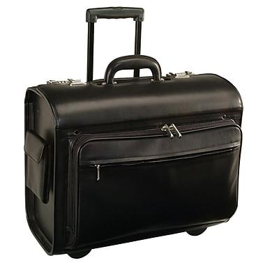 Royce Leather 'Litigator' Rolling Briefcase, Black