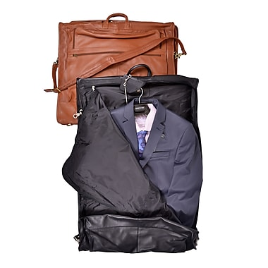 Royce Leather Carry-On All Leather Suiter, Black