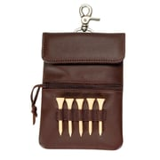 Royce Leather Clip-On Golf Accessory Bag, Coco