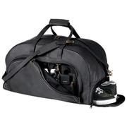 Royce Leather – Sac de sport de voyage avec compartiment à chaussures, noir