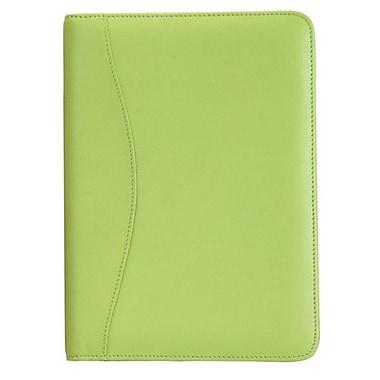 Royce Leather Junior Writing Padfolio, Key Lime Green