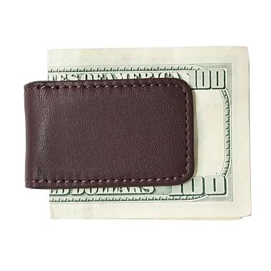Royce Leather – Pince à billets magnétique classique, bourgogne