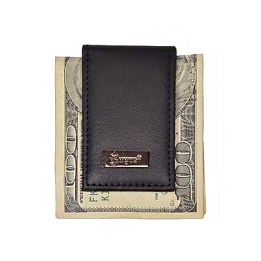 Royce Leather Nappa Prima Magnetic Money Clip, Black