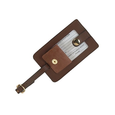 Royce Leather Full Grain Cowhide Snap Luggage Tag, Coco