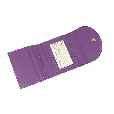 Royce Leather GPS Tracking & RFID Blocking Slim Women's Wallet in Genuine Leather, Purple