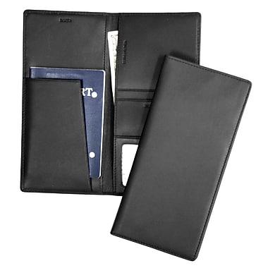 Royce – Porte-passeport et porte-billet en cuir avec blocage RFID, bleu