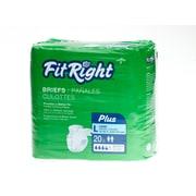 Medline® FitRight® 20/Pack Plus Clothlike Briefs