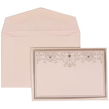 JAM Paper® Wedding Invitation Silver Heart Jewel Set, 305524709