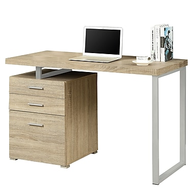 Monarch Computer Desk with Storage Drawer Wood 1