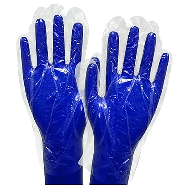 Ronco Polyethylene Disposable Gloves, Clear, 10,000/Pack