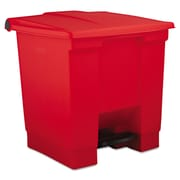 Rubbermaid® Commercial 8 gal Plastic Step-On Receptacle Waste Containers