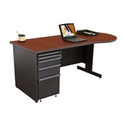 "Marvel® Zapf® Dark Neutral 72"" x 30"" Laminate Teachers Conference Desks"