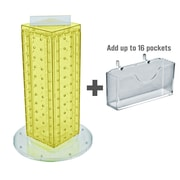 """Azar Displays 13""""H x 4""""W x 4""""D Pegboard Counter Gift Card Holder"""