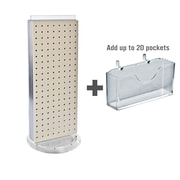 """Azar Displays Pegboard Counter Gift Card Holder, 8"""" x 21"""""""