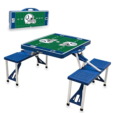 NFL Licensed Digital Print ABS Plastic Sport Picnic Tables, Assorted Teams