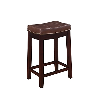 Linon Claridge Patches Vinyl Counter Stools
