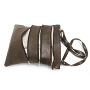 """Champs 11"""" x 10""""  Leather Cross Body Bag"""
