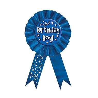 Ruban récompense « Birthday », 3 3/4 x 6 1/2 po, 3/paquet