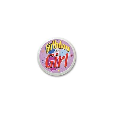 Macaron clignotant « Birthday Girl », 2 po, 4/paquet