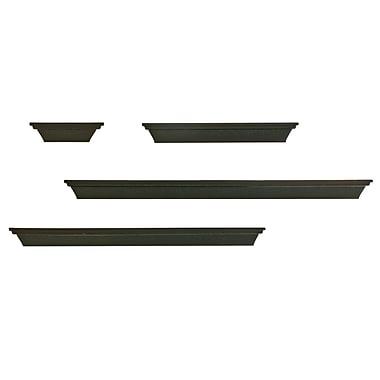 Nexxt - Tablettes à rebord multi-longueurs, ensemble de 4