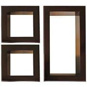 Nexxt Framed Cubbi Wood Wall shelves, Set of 3