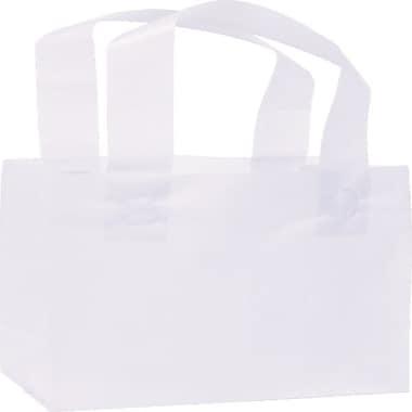 Bags & BowsMD – Sacs de magasinage givrés haute densité, 6 1/2 x 3 1/2 x 6 1/2 po, 250/paquet