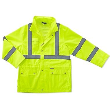 Ergodyne® GloWear® 8365 Lime Class 3 Hi-Visibility Rain Jackets