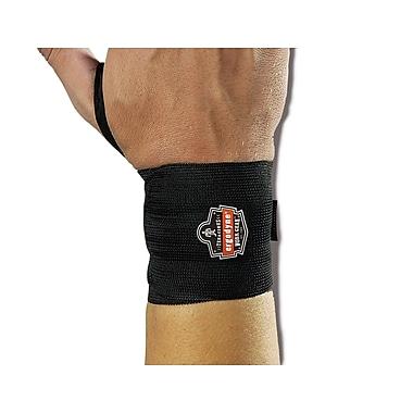 Ergodyne® ProFlex® 420 Ambidextrous Black Wrist Wraps With Thumb Loop
