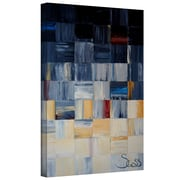 "ArtWall ""Grey Squares"" Gallery Wrapped Canvas Arts By Shiela Gosselin"