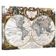 "ArtWall ""Antique World Map Circa 1499"" Gallery Wrapped Canvas Arts"