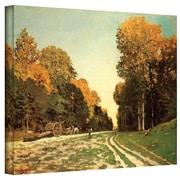 "ArtWall ""Lumber Wagon"" Gallery Wrapped Canvas Arts By Claude Monet"