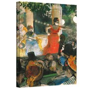 """ArtWall """"Cafe Concert at Les Ambassadeurs"""" Gallery Wrapped Canvas Arts By Edgar Degas"""