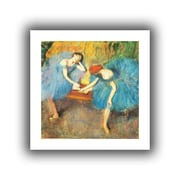 """ArtWall """"Two Dancers at Rest"""" Flat Unwrapped Canvas Arts By Edgar Degas"""