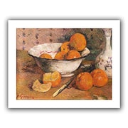 """ArtWall """"Still Life with Oranges"""" Unwrapped Canvas Arts By Paul Gauguin"""