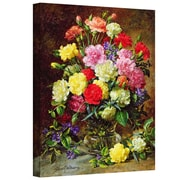 """ArtWall """"Carnations.."""" Gallery Wrapped Canvas Arts By Albert Williams"""
