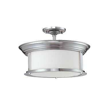 Z-Lite Sonna (2002SF-NB) - Lampe semi-encastrée à trois lumières, 15,5 po x 10 po