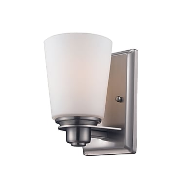 Z-Lite Nile (2100-1V) - Luminaire pour salle de bains à une lumière, 5,5 po x 4,5 po x 8,5 po