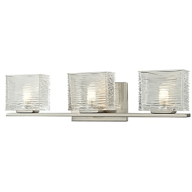 Z-Lite Jaol (3024-3V) - Luminaire pour salle de bains à trois lumières, 3,75 po x 22,5 po x 5,63 po