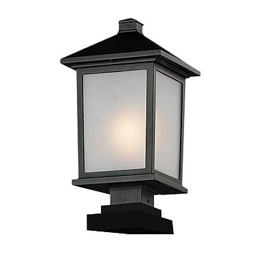 Z-Lite – Têtes de lampadaire pour l'extérieur Holbrook (537PHB-SQPM-BK), 9,5 x 19,5 po