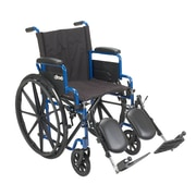 """Drive Medical Blue Streak Wheelchair with Flip Back Desk Arms, 18"""" Seat"""