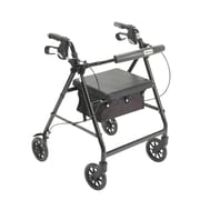 Drive Medical Rollator Walker with Back Support and Padded Seat