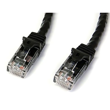 StarTech.com Black Gigabit Snagless RJ45 UTP Cat6 Patch Cable, 25ft Patch Cord, 25 Ft.