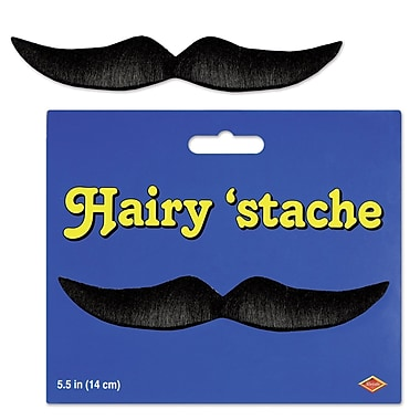 Moustache poilue, 5 1/2 po, 9/paquet