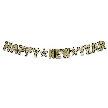 Guirlandes scintillantes « Happy New Year », 8 1/2 po x 8 pi 6 po, 2/paquet