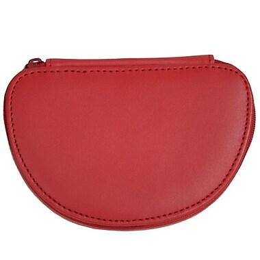 Royce Leather Mini Jewellery Case, Red