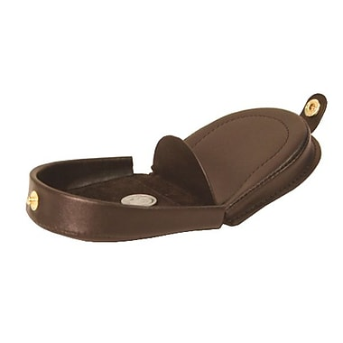 Royce Leather – Porte-monnaie, brun, estampage doré, nom complet